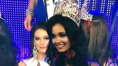 May Myat Noe al momento de ganar el concurso de belleza. Foto tomada de...