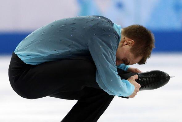 El alemán Peter Liebers, durante su primera presentación en los Juegos O...