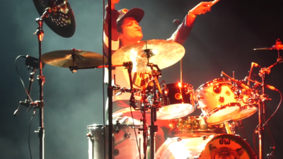 Bruno Mars honors Cardi B with drum solo during 24K Magic Tour