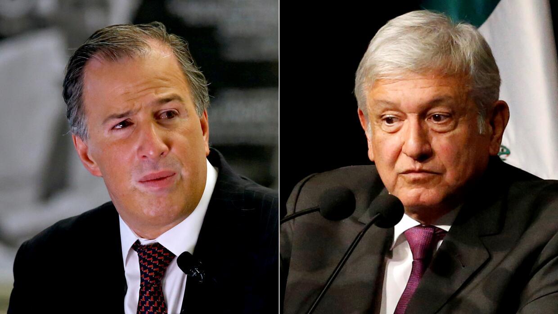 José Antonio Meade y Andrés Manuel López Obrador, candidatos a la presid...