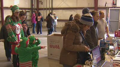 Familias de San Antonio recibieron un regalo de navidad gracias a una iniciativa nacional