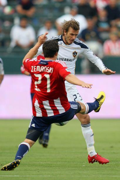 Beckham fue por segunda vez titular en su cuarto partido de la temporada...