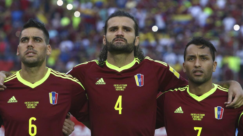 De izquierda a derecha Gabriel Cichero, Oswaldo Vizcarrondo y Jeffren Su...