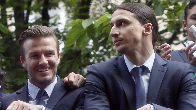 David Beckham quisiera sumar a Ibrahimovic para su equipo en Miami.