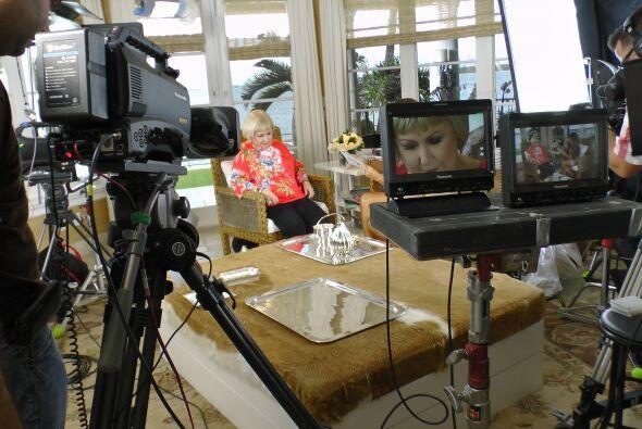 Gracias a su exitosa carrera en la televisión, Cristina recibió su estre...