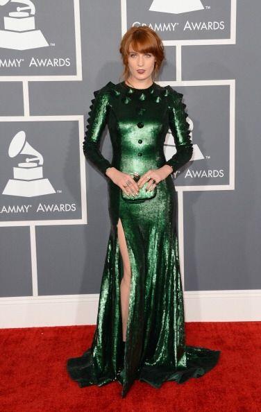 Otro de los peores 'looks' que hemos visto en los Grammy es este vestido...