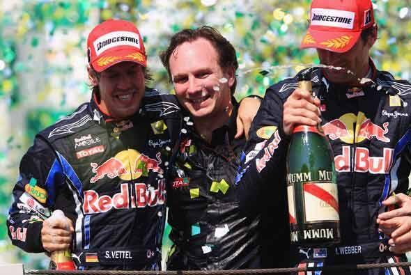 Vettel y Webber no solo celebraron el 1-2 en el Gran Premio de Brasil, t...
