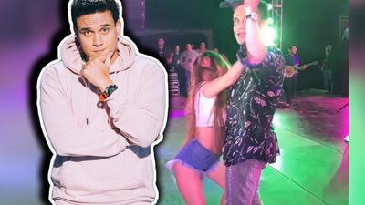 Mira cómo Silvestre Dangond tuvo que despreciar a una fan que intentó bailar con él en un concierto