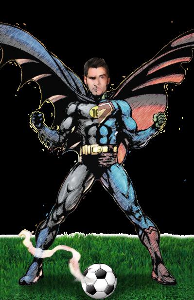 Si Lionel Messi fuera un superhéroe seguramente sería Batm...