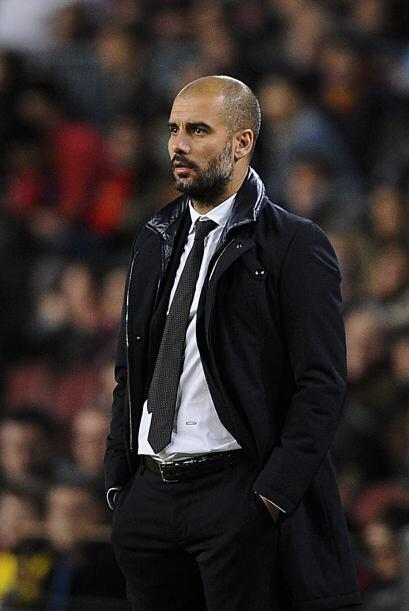 Guardiola miraba muy atento el desempeño de los 'chicos'. Jugaron un par...