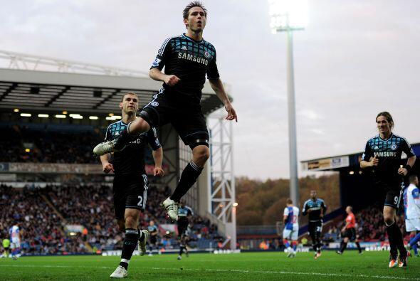 Convirtió el único gol en la victoria de su equipo Chelsea.