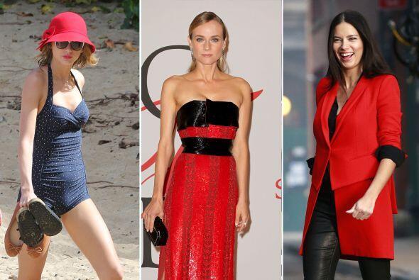 Sin duda el rojo es un color que te hará lucir elegante, las famo...