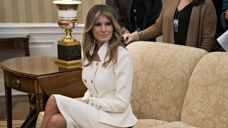 Melania Trump en la Casa Blanca, el pasado 15 de febrero en la reunión o...