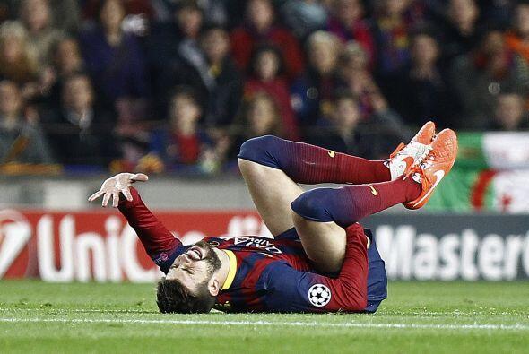 Así fueron las imágenes de la dolorosa lesión que sufrió Gerard Piqué.