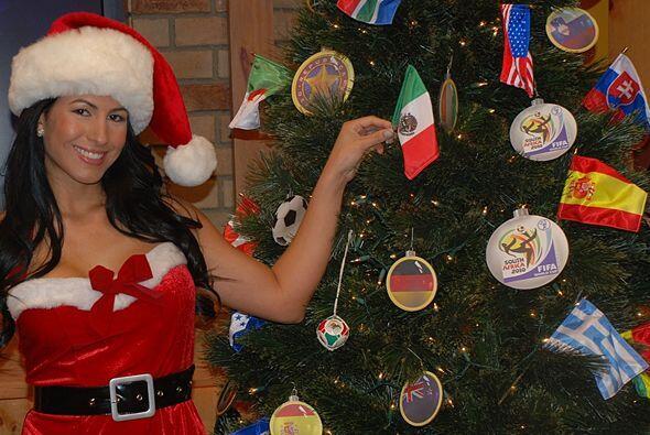 Este es el único arbolito navideño deportivo en todo el mundo.