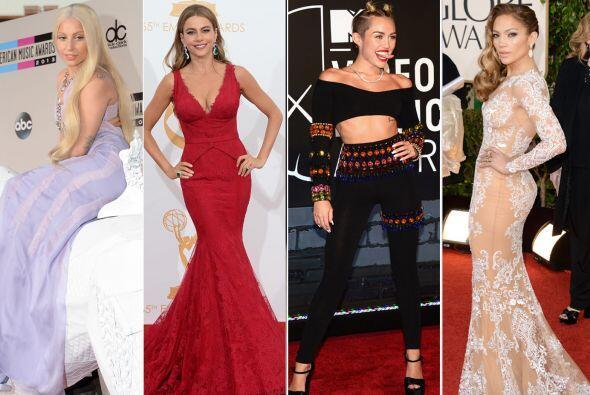 Las red carpets mostraron las mejores y peores galas de muchos famosos....