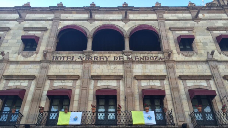 El exterior del hotel