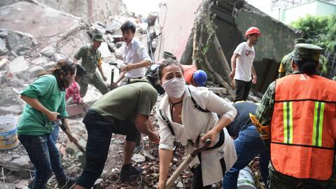 El terremoto de 7.1 grados en la escala de Richter –que azotó a l...
