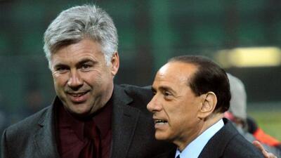 Ancelotti y Berlusconi mantienen una buena relación.