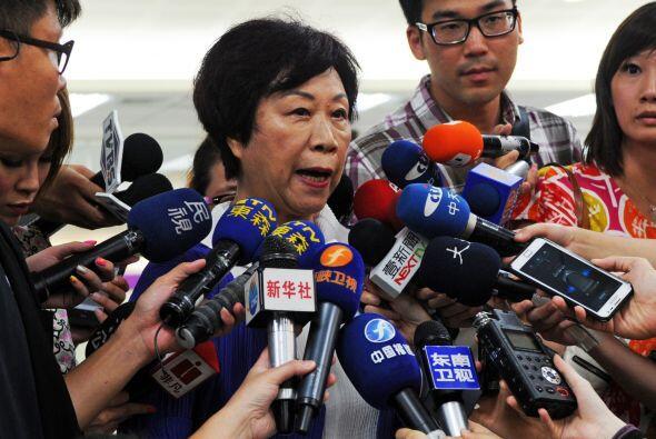 Sheng Ching, directora de la Administración Aeronáutica Civil de Taiwán,...