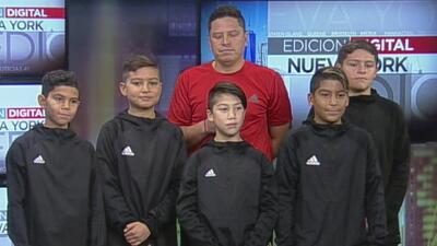 Estos niños de Nueva York viajarán a Colombia para participar en un torneo de fútbol