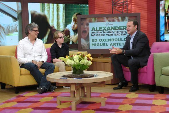 También nos acompañaron el productor y el protagonista de la película 'A...