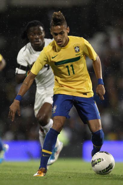 El crack Neymar sólo mostró algunos destellos de su talento.