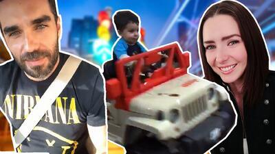 Diego es el nuevo conductor todoterreno de Ariadne Díaz y Marcus Ornellas (a lo 'Jurassic Park')