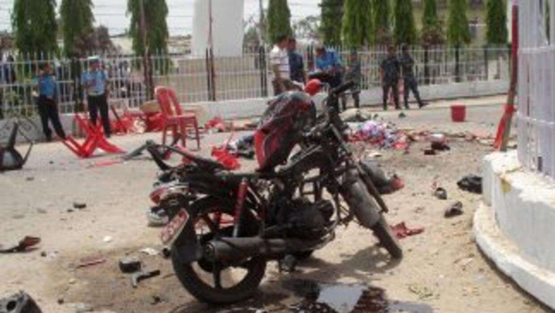 La explosión tuvo lugar un día antes de que el presidente colombiano, Ju...