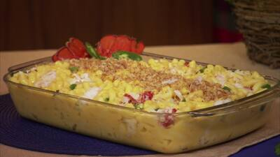 Mac and Cheese elaborado para cuaresma