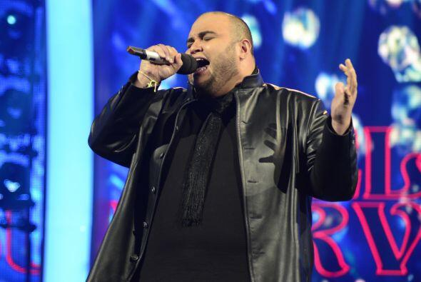 Ricardo Rivera sobre el escenario.