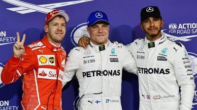Bottas y Hamilton partirán en la primera línea del Gran Premio de Abu Dabi