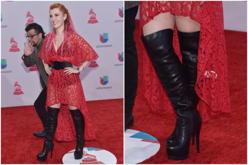 La cantante María Barracuda utilizó unas botas altas con plataforma para...