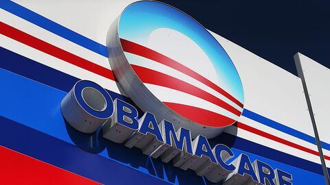 Aviso de Obamacare en una calle de Miami (archivo)