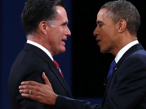 El tercer y último debate presidencial de Estados Unidos entre el...