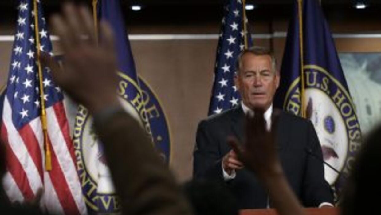 El congresista republicano de Ohio John Boehner, Presidente de la Cámara...