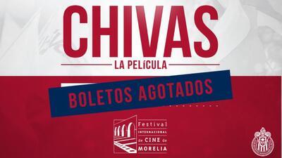 Se agotaron boletos para estreno de 'Chivas: la película'