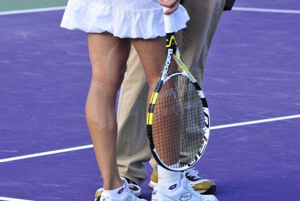 Por su parte, la italiana Francesca Schiavone lució sus musculosas piern...