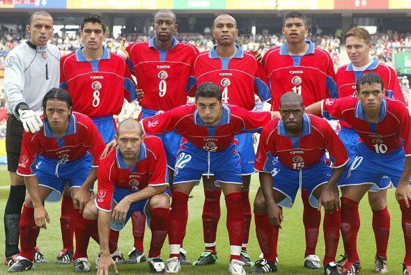 Así salió Costa Rica en el Mundial del 2002, en Corea y Japón.