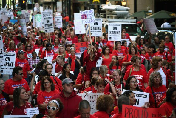 Segundo Dia de Huelga Escolar en Chicago.