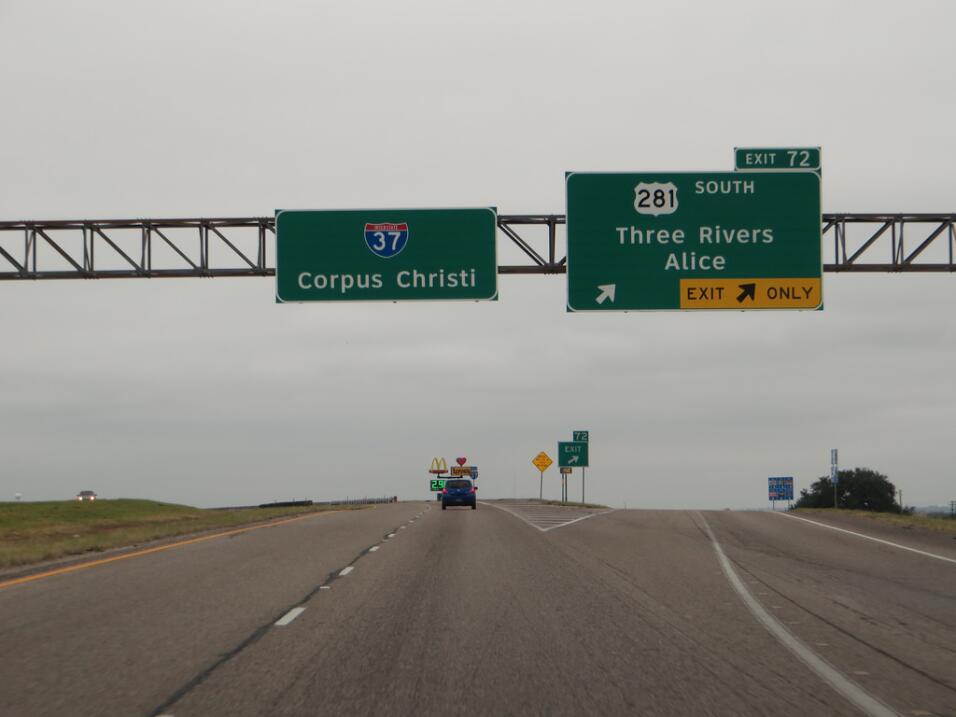 En el séptimo lugar se encuentra la I-37 de Texas, entre San Anot...