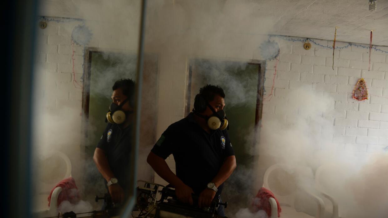 Fumigan en poblados de El Salvador afectados por el virus del Zika