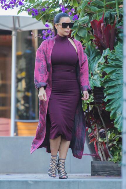 Fotos de Kim Kardashian durante su segundo embarazo
