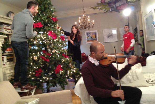 ¡Cómo nos divertimos grabando el mensaje navideño!