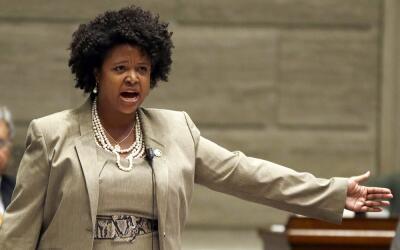 La senadora estatal María Cappelle-Nadal en una intervenci&oacute...