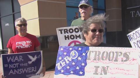 Familias de militares se manifiestan en contra de la propuesta del presi...