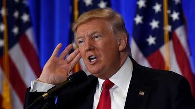 El 11 de enero Trump dio una conferencia de prensa en Nueva York. La uni...
