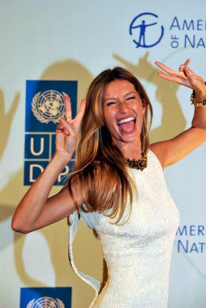 También figura la brasilera Gisele Bundchen, conocida por su trabajo com...