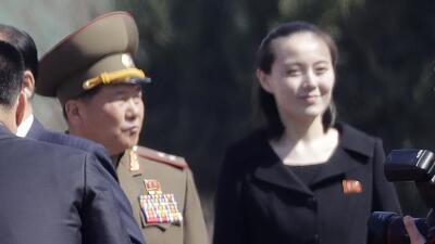 Kim Yo Jong, la hermana del líder norcoreano, en una imagen del 13 de ab...