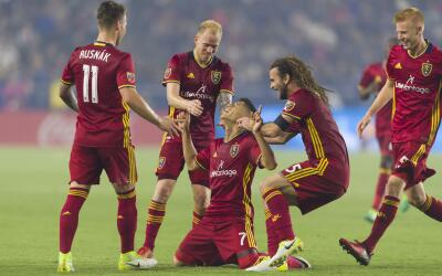 Real Salt Lake celebra con Jefferson Savarino